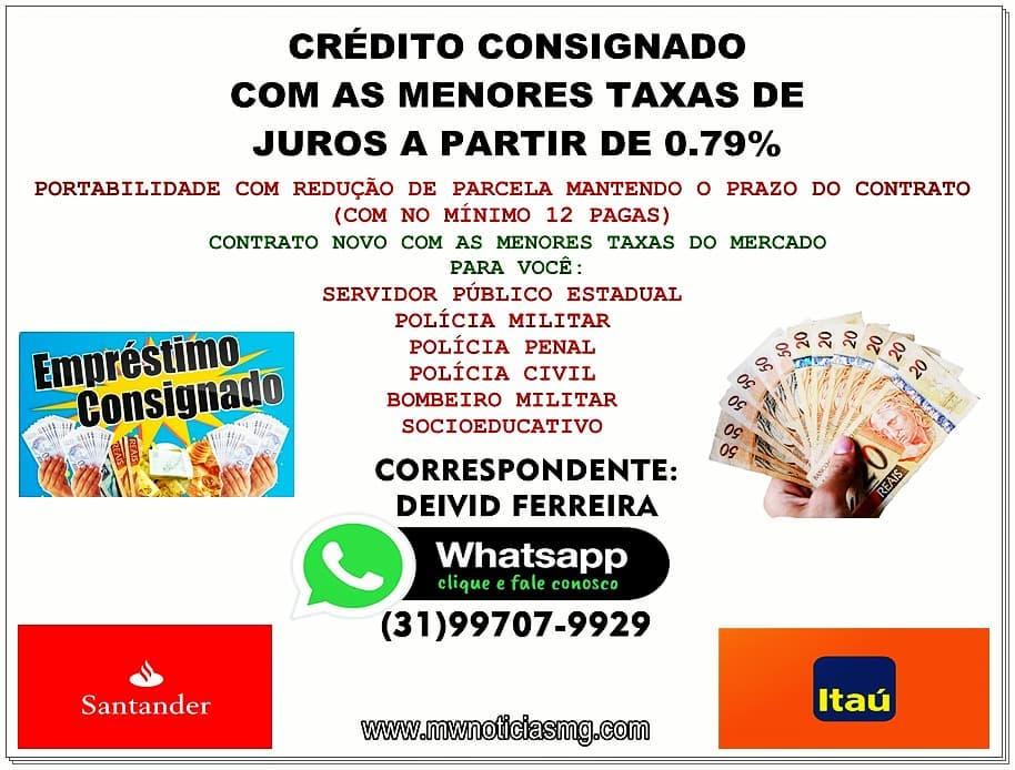 CRÉDITO CONSIGNADO COM AS MENORES TAXAS DE JUROS A PARTIR DE 0.79%