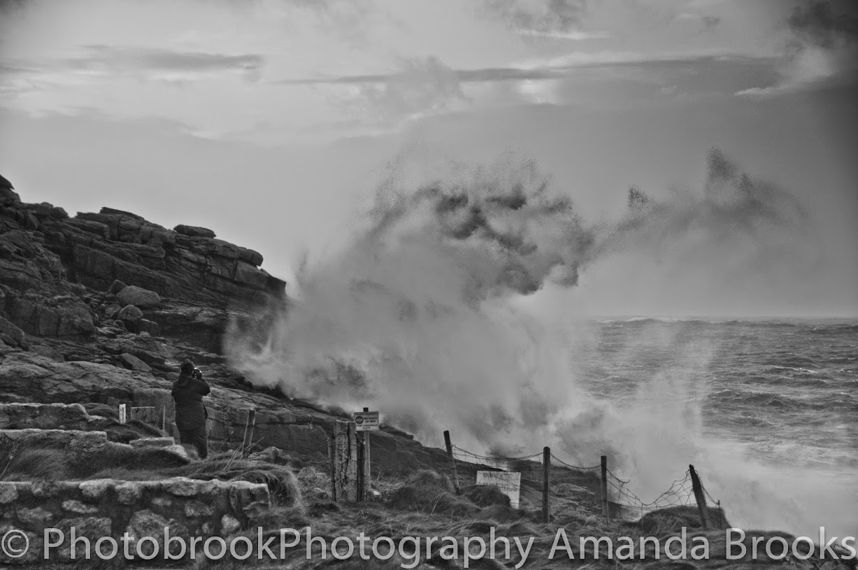 Storm Hercules photographs from Sennen with 30ft waves