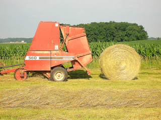 round bale of hay 7