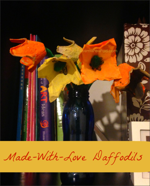 painted egg carton daffodils make a beautiful mother's day gift