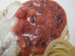 Sauce aux baies de poivre rose à la fraise
