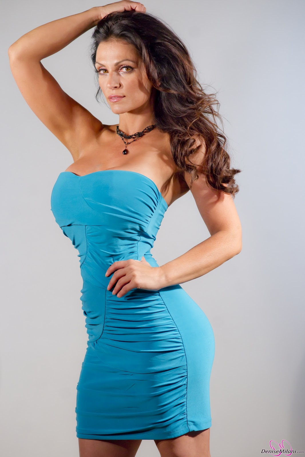 A Denise Milani Image Blog: Denise Milani New Blue Dress ... Denise Milani Blue Dress