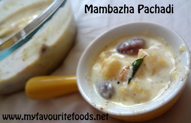 Mambazha Pachadi (Microwave)