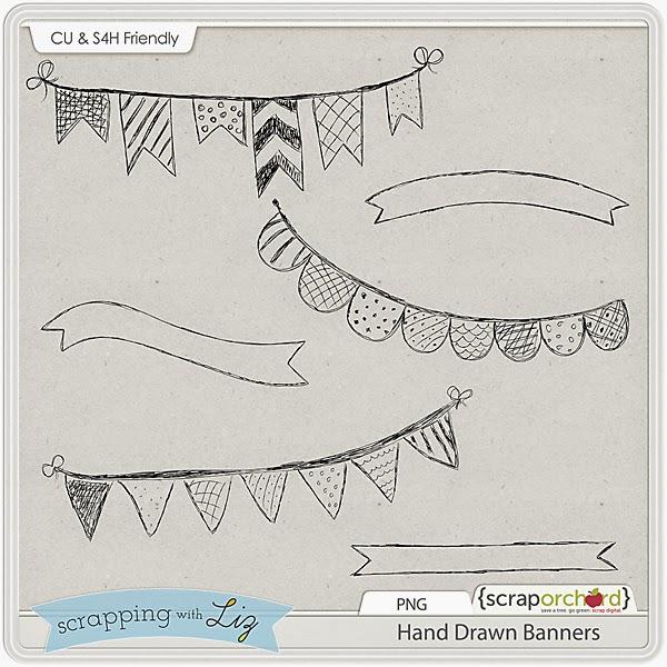 http://scraporchard.com/market/Hand-Drawn-Digital-Scrapbook-Banners.html