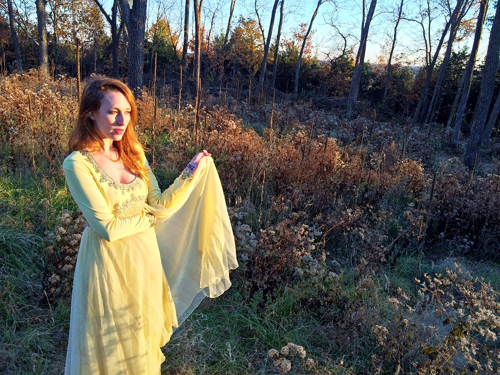 Tanya Montana Coe yellow dress wood sundown