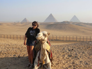 Egypt, Pyramid of Giza, Land of THE MUMMY and Pharoah, me and the camel