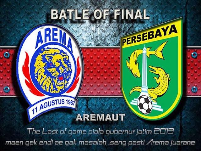 Hasil Skor Akhir: Arema vs Persebaya 24 Desember 2013 | Final Piala Gubernur Jatim