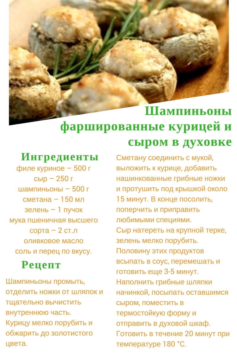 Рецепт фаршированных шампиньонов пошаговый рецепт с