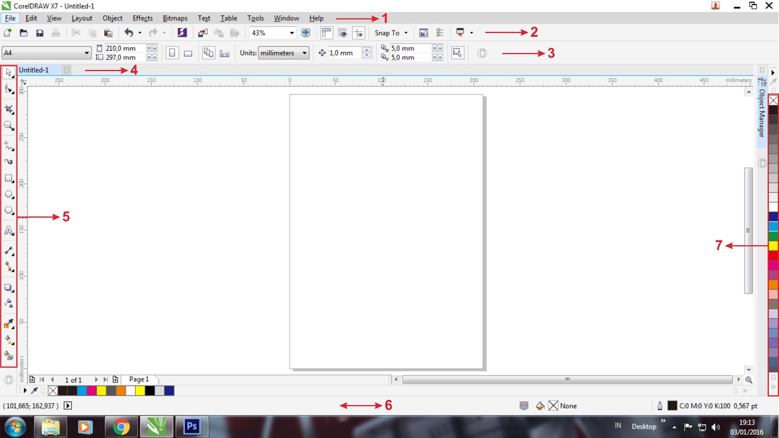 Interface Coreldraw X7 Desain Grafis