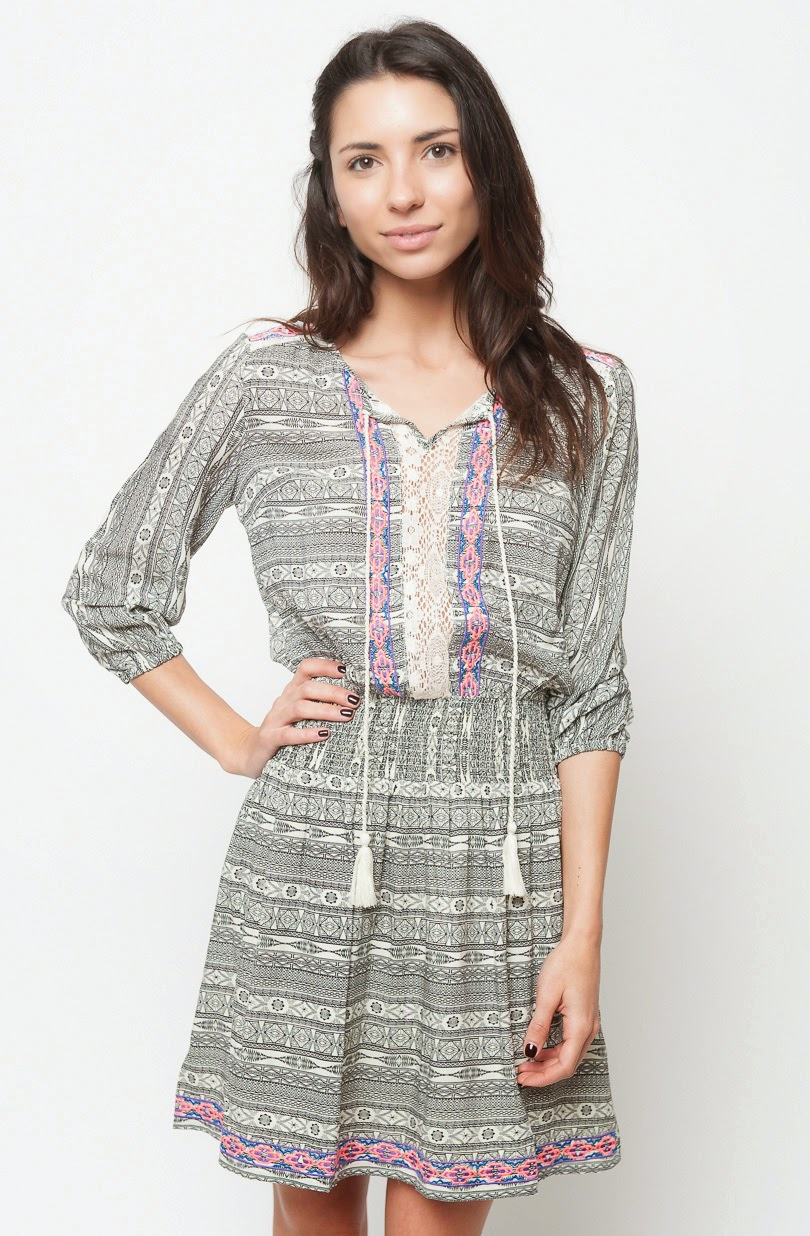 Buy online cheap ruched lace print dress for women on sale at caralase.com