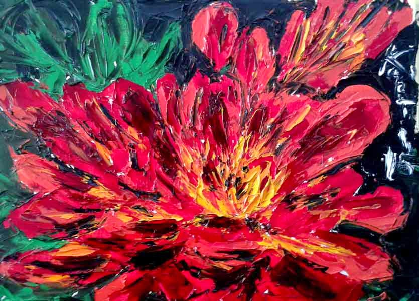 crisantemo oilpainting