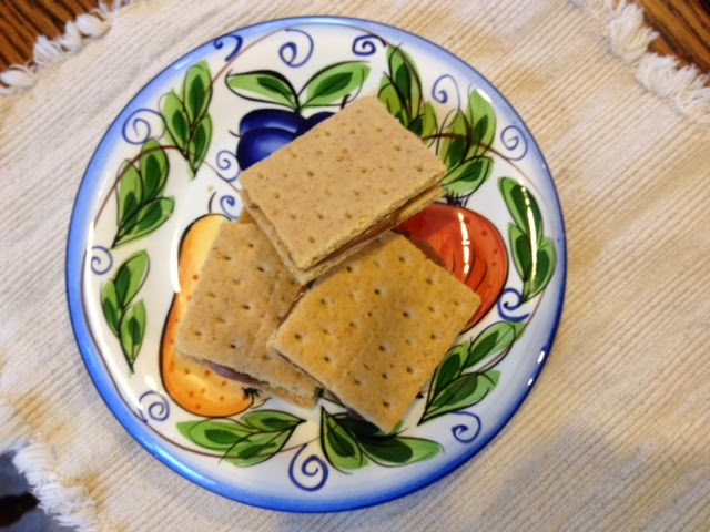 Graham Cracker chocolate frosting snack