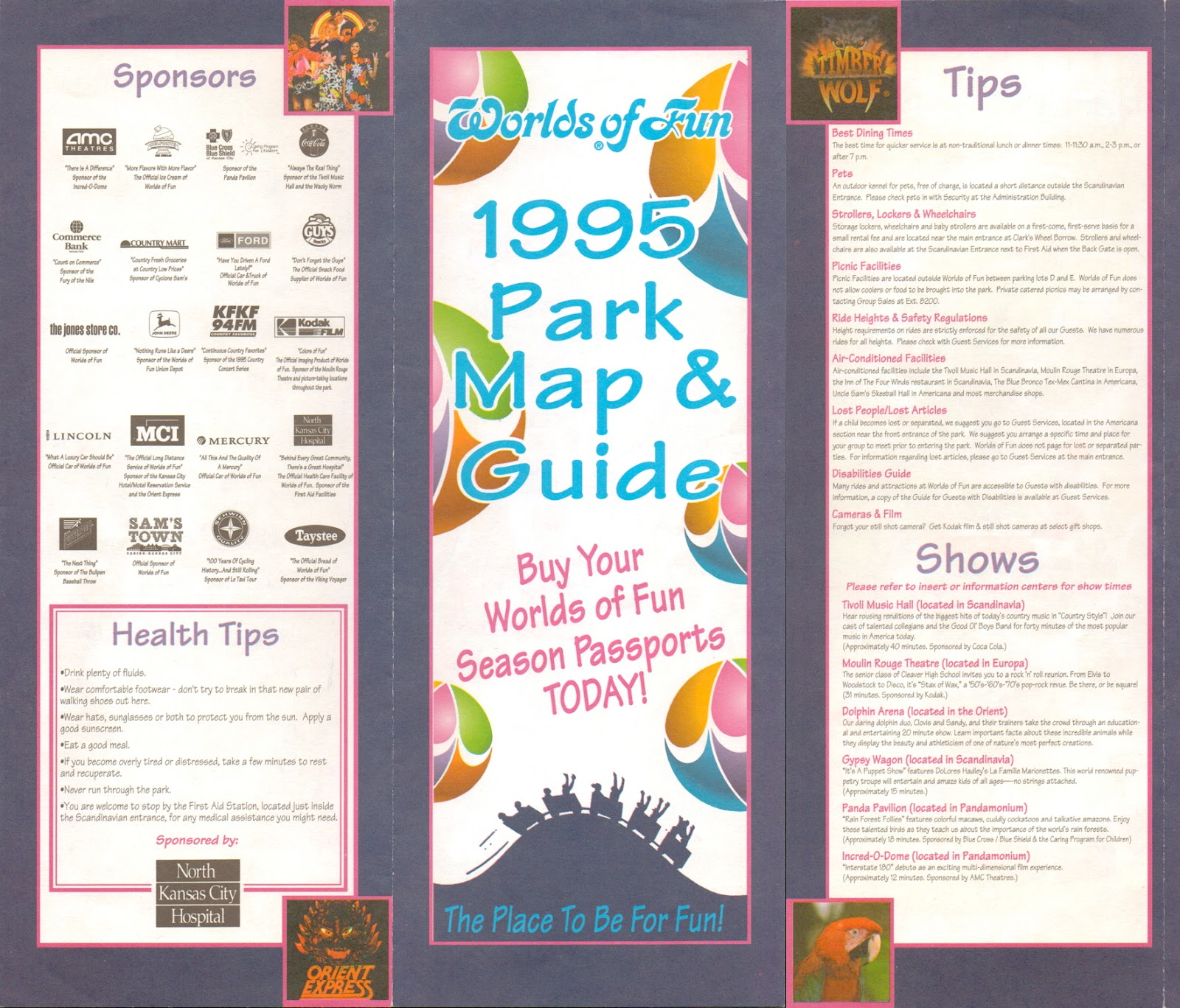 From The Vault Worlds Of Fun Park Map Theme Park News - Fun brochure templates