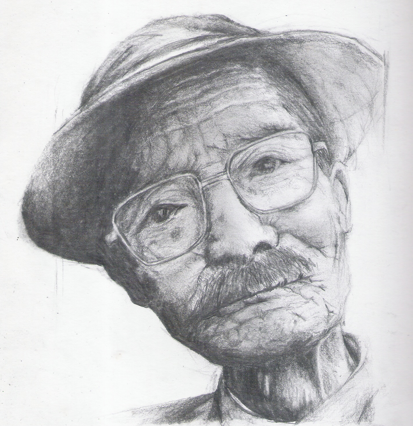 Traditional portrait drawing
