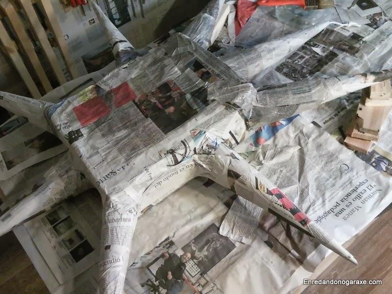 Forma de la piñata terminada, enredandonogaraxe.com
