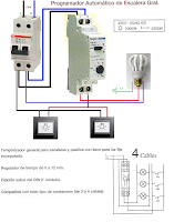 programador automatico de escalera Gral. 4 cables
