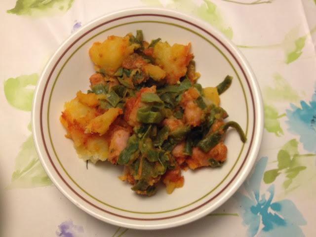 Patatas y judias verdes con salchichas recetas de cocina - Tiempo coccion judias verdes ...