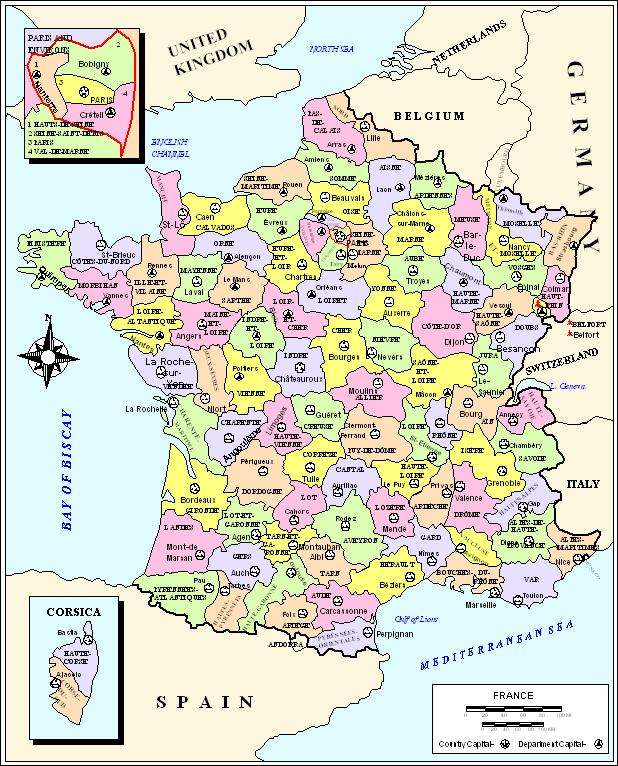 Mapa Poltico De Francia Ciudades