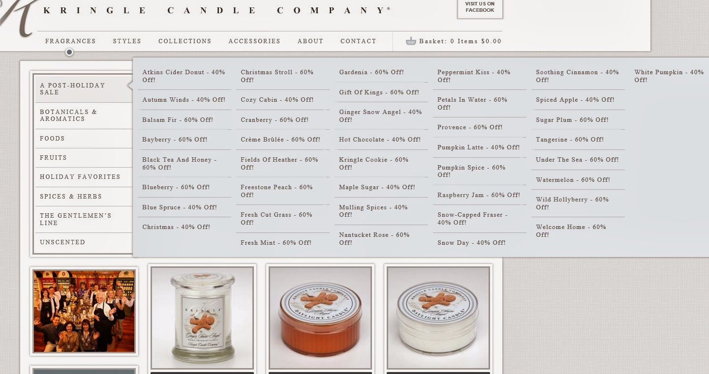 Kringle Candle Company | Winter Sale | 40-60% off