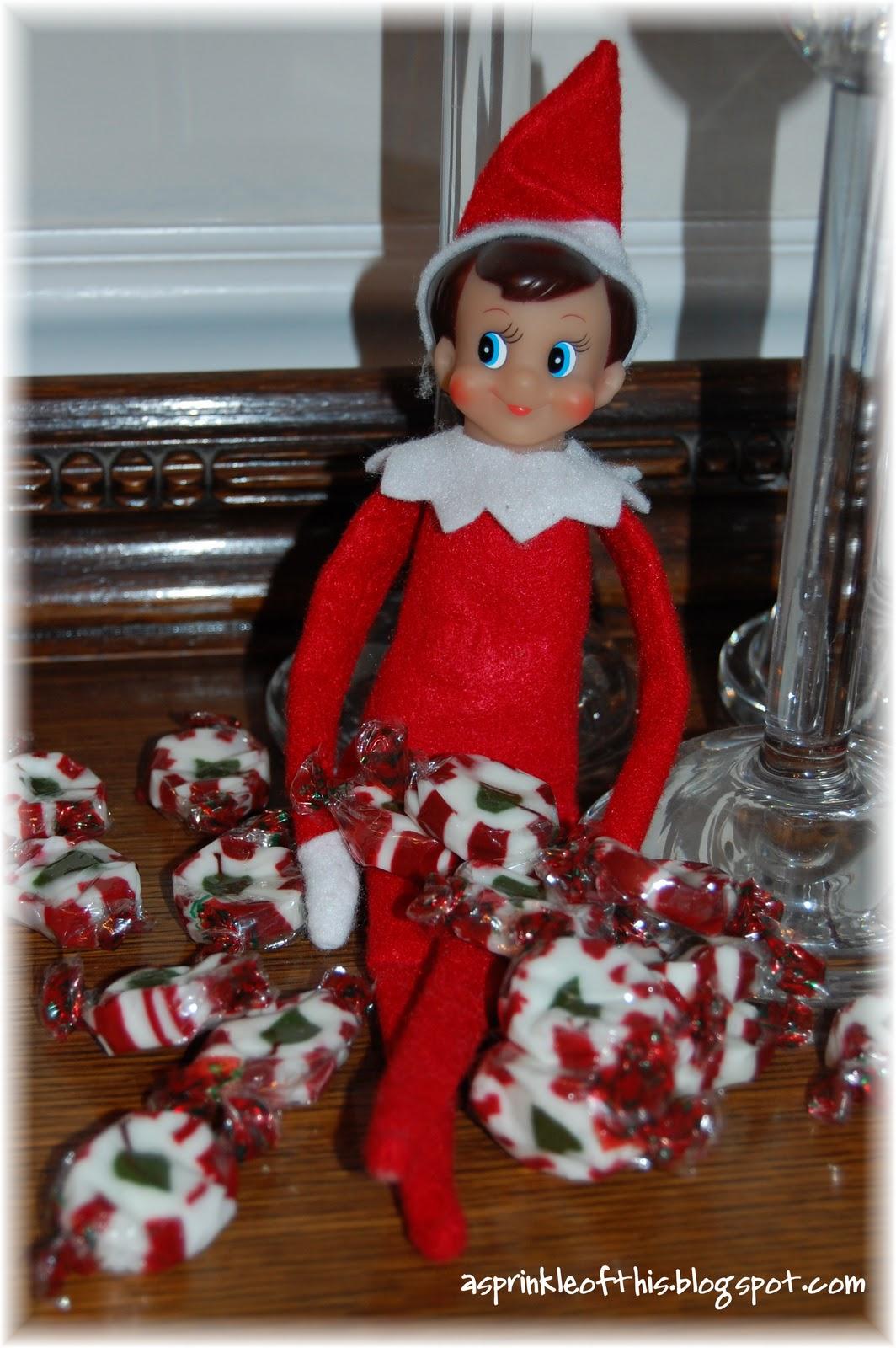 Hershey kisses jingles just b cause for Elf on the shelf chocolate kiss
