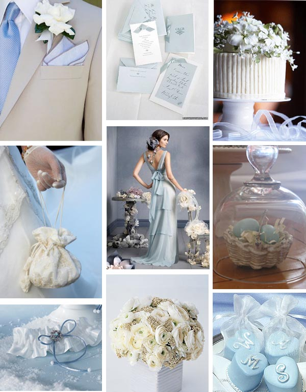 Light Blue Wedding Ideas And Silver Theme Accents Of