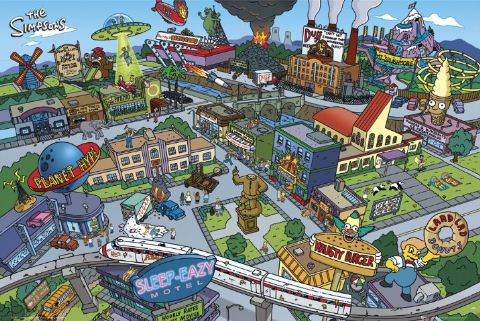 Enciclop dia simpson springfield the simpsons city for 742 evergreen terrace springfield