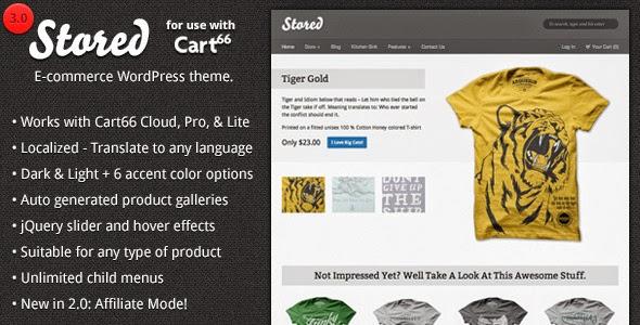 Stored – Ecommerce WordPress Theme for Cart66