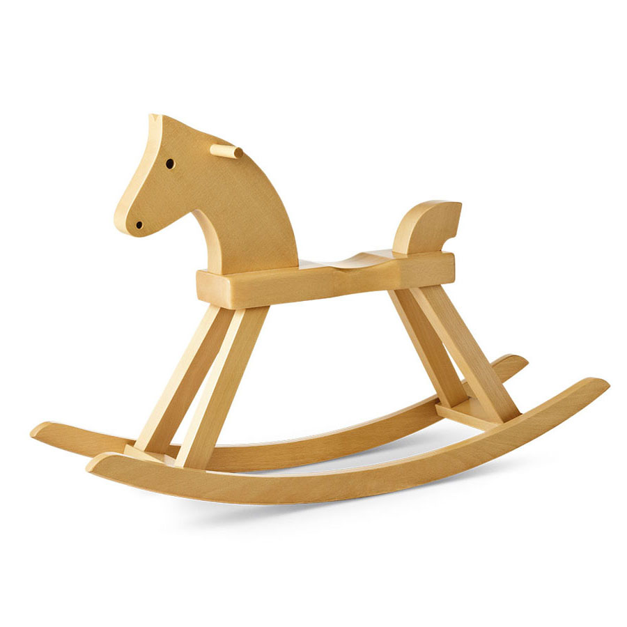 Wooden Rocking Horse ~ Kay bojesen danish wooden animal toys and rocking horse