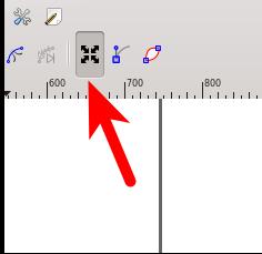 inkscape icono de transformacion de nodos