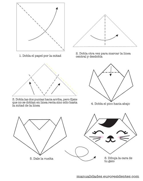 gato de origami en pdf