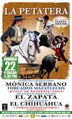 Serrano, El Zapata y El Chihuahua anunciados en la Petatera, el 22/02