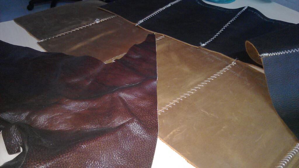 Loại da bò thuộc này được cắt sẵn ra thành từng tấm đều tại hcm