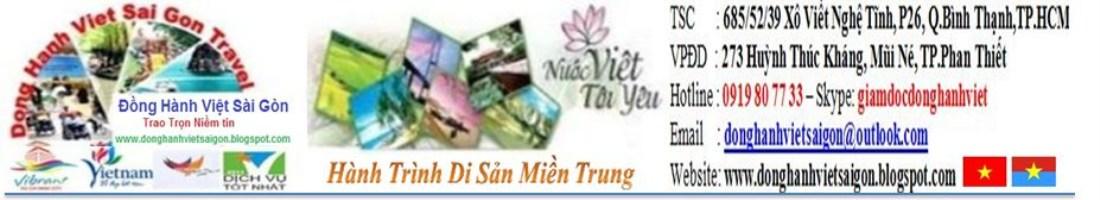 TOUR MIỀN TRUNG HẰNG NGÀY
