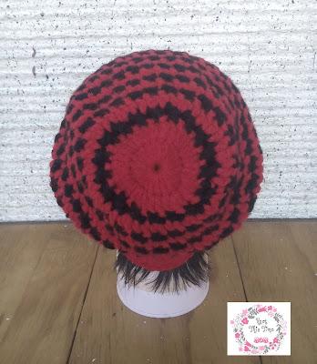 Cross Stitch Slouch Hat- back