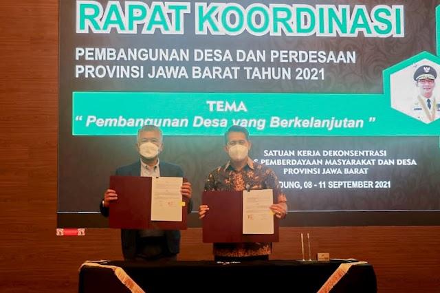 Dukung Peningkatan Kesejahteraan Masyarakat Desa, Bjb Kejasama dengan DPMD Jabar