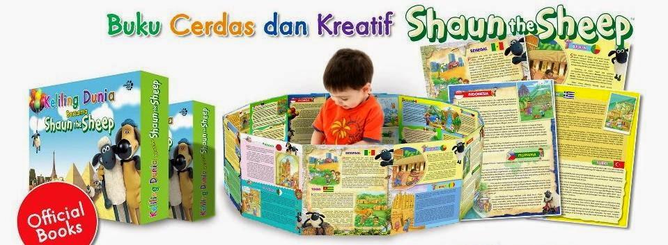 """Buku kolam """"Keliling Dunia Bersama Shaun The Sheep"""" Rp. 85.000,-"""