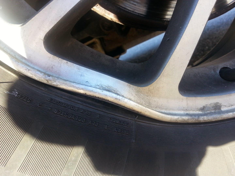 dent aluminum rim, fix
