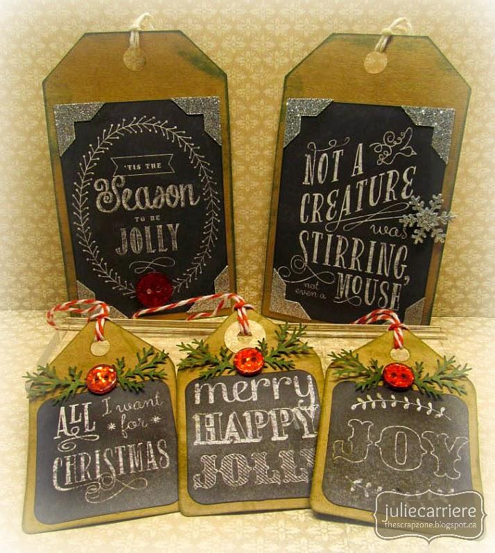 CTMH Vintage Christmas Tags