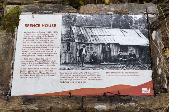 spence house information sign creswick