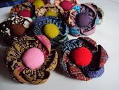 Bross batik 6 kelopak