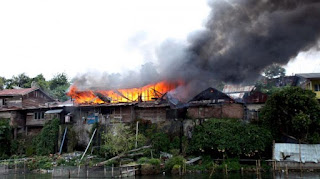 citisfm-Empat Rumah Ludes Terbakar