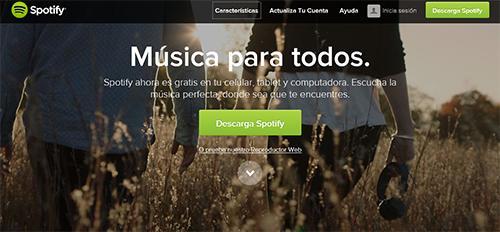 Crear cuenta Spotify con Facebook