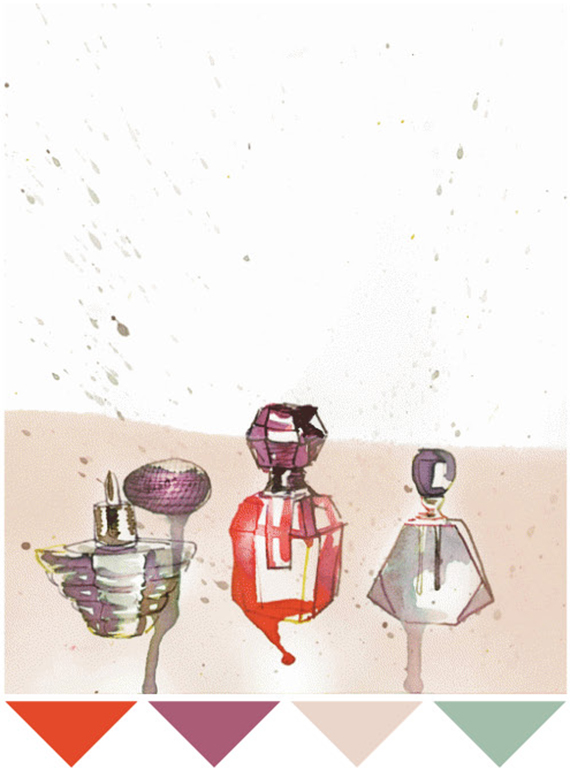 samantha hahn color study perfume bottles