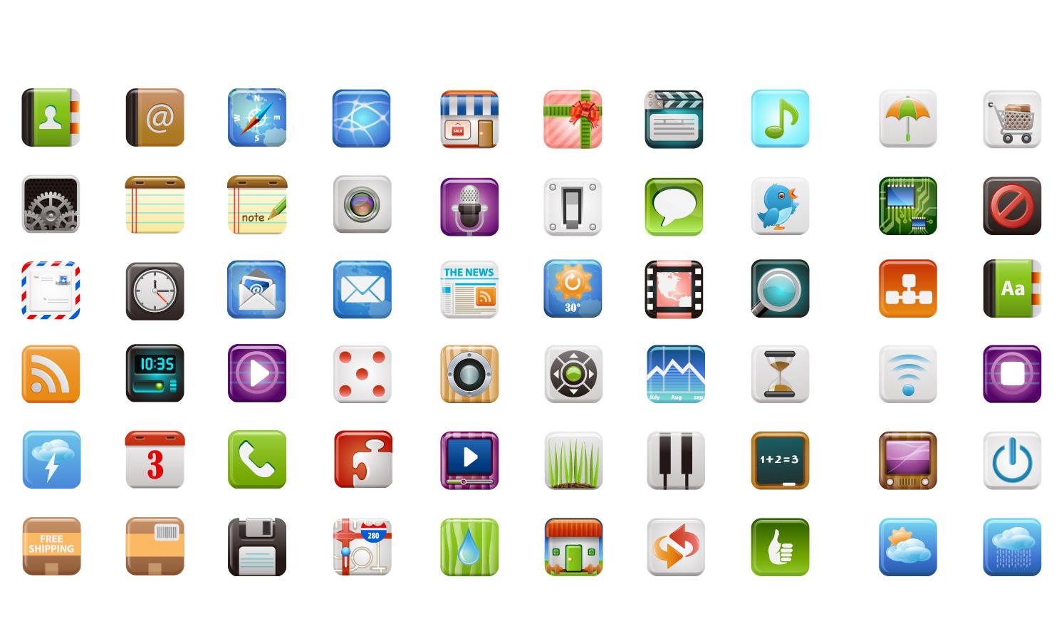 スマートフォンのアイコン デザイン見本 beautiful mobile phone icon イラスト素材
