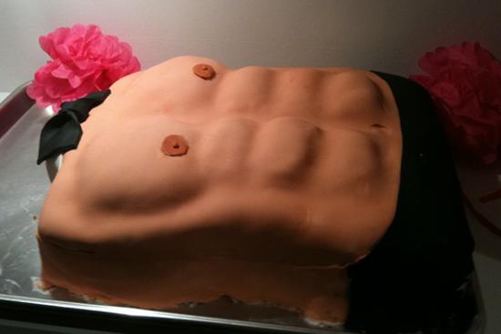 Торт в виде мужского торса