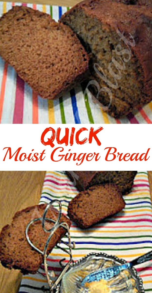 Moist Ginger Bread ~ Recipe for 2 loaves as 1 is simply not enough ! Moist and scrumptious #QuickBread #SweetBread #Dessert #TeaTimeTreat