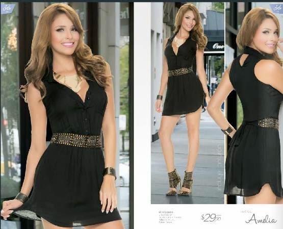 Vestido negro Jolie C-3 2015