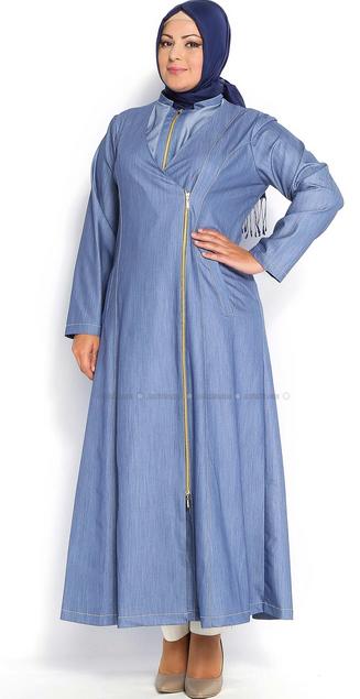 Gambar Baju Muslim Trendy untuk Perempuan Gemuk
