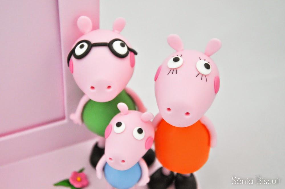 Peppa Pig Lembrancinha Aniversário Biscuit Porta Retrato