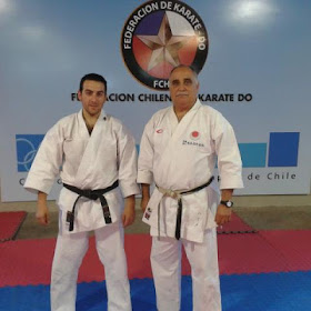 Sensei Jaime Agliati 7º Dan, junto a Sensei Juan Acevedo